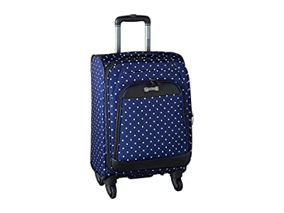 Kenneth Cole Reaction Dot Matrix Collection 20 Carry On (Navy/White Dots) Carry on Luggage