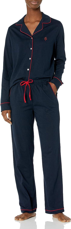 Tommy Hilfiger Women's Notch Collar 希望者のみラッピング無料 Set Pant 年末年始大決算 and Sleeve Long