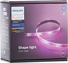 Philips Hue LightStrip Plus Dimmable LED Smart Light - Two Metre Base Kit (Compatible with Bluetooth, Amazon Alexa, Apple ...
