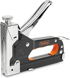 VonHaus Grapadora + Clavadora – Multiuso con Liberación Rápida de Atasco; Incluye 200 Grapas, 200 Grapas de Cable & 200 Clavos - Ideal para Carpintería, Aislamiento y Fijación de Cables