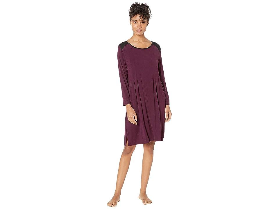 Donna Karan Classic Jersey Sleepshirt (Burgundy Heather) Women