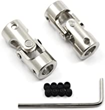 Befenybay 2 Pcs 8mm to 8mm Universal Joint Shaft Coupling with Screws for RC Model Motor