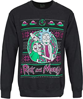 RICK AND MORTY Official Licensed Adult Swim Portal Christmas Jumper Sweater