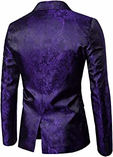 Mens Tops Casual Long Sleeve, Charm One Button Fit Suit Blazer Coat Jacket Tops