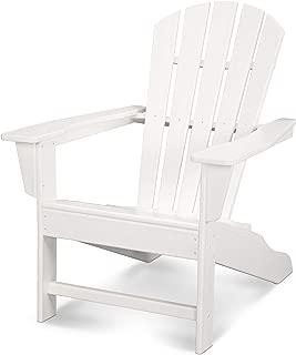 Polywood HNA10-WH Palm Coast Adirondack Chair, White