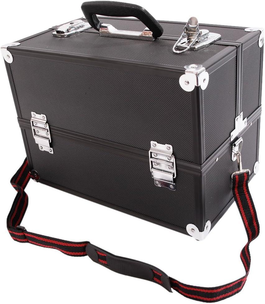 Luxury goods N7 Aluminum Alloy Makeup Train Black Case Box Organizer Cheap sale Jewelry