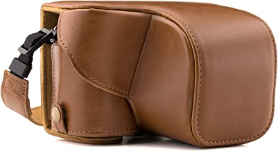 MegaGear Ever Ready Leather Camera Case Compatible with Sony Alpha A5100, A5000 with 16-50mm Lens