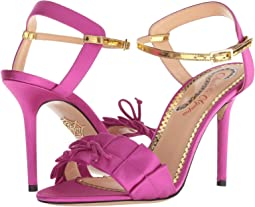 Fuchsia/Gold Satin/Metallic Calf