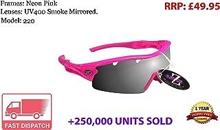 Occhiali MTB Occhiali da sole Rayzor professionale UV400 Gunmetal Grigio 2 in 1 in bicicletta con un anti nebbia trattata affumicato anabbagliante Lens Chiarezza e staccabile elasticizzata fascia e interno imbottitura in schiuma.