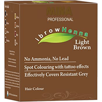 Mina Professional ibrow Henna Light Brown Refill Pack For Hair Coloring