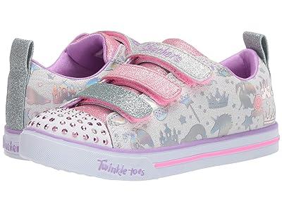 SKECHERS KIDS Twinkle Toes Sparkle Lite Sparkleland 20274L (Little Kid/Big Kid) (White/Multi) Girl
