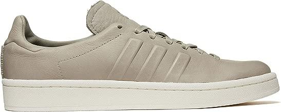 adidas Originals Mens Campus Leather Low Top Fashion Sneakers Gray 10 Medium (D)