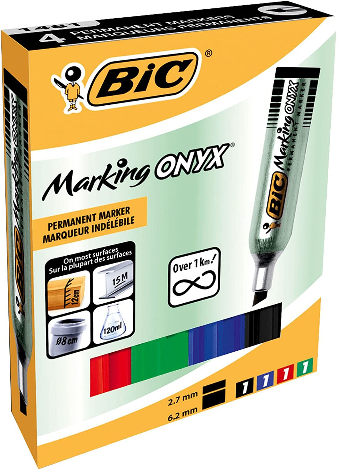 BiC ONYX 1481 Mini Permanent Marker 8418 Tip Assorted Ref Seasonal Max 59% OFF Wrap Introduction Chisel