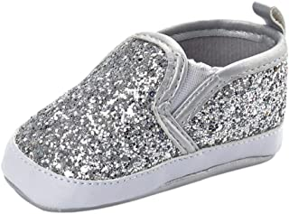 fc24651087a2 Baby Boy Girls Sequin Crib Shoes Toddler Casual Glitter Shoes Kids Sneakers