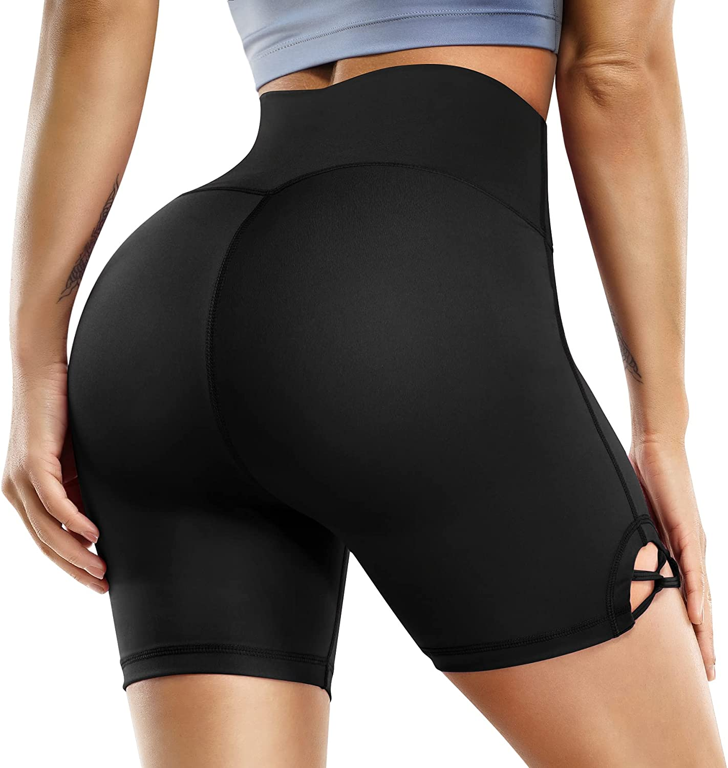 LEINIDINA Women's High Waist Yoga Tummy New products world's highest quality popular Ranking TOP14 Shorts Pock Control with