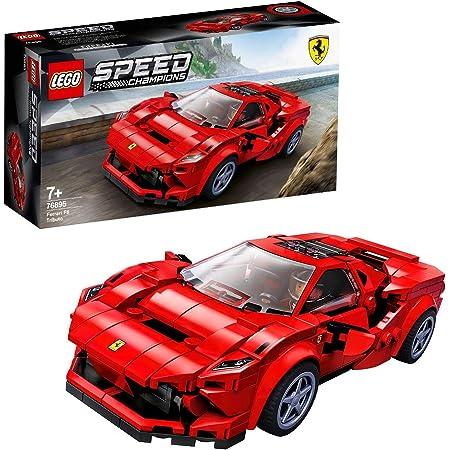 LEGO Le racer Speed Champions Ferrari F8 Tributo avec figurine de conducteur, Sets de construction de voitures de course, 105 pièces, 76895