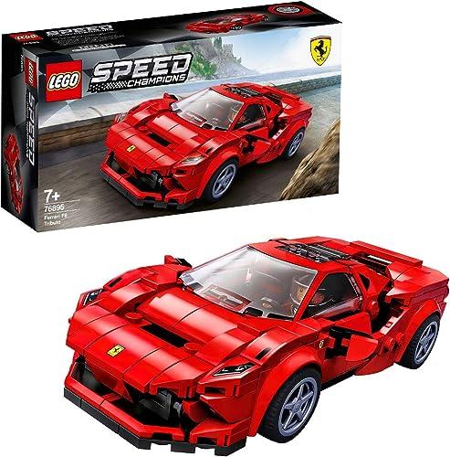 LEGO 76895 Speed Champions Ferrari F8 Tributo, Cadeau Anniversaire et Noël Enfant Voiture de Course, Jouet Fille Garç...