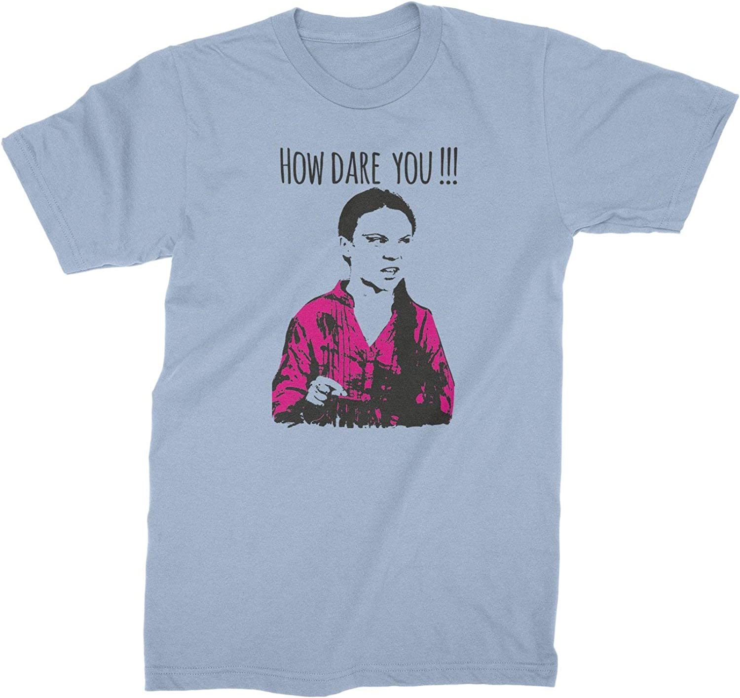 Climate Change Issue How Dare You Greta Thunberg Elect Funny Black T-Shirt S-6XL