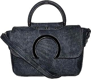 حقيبة للنساء-رصاصي موشح - حقائب طويلة تمر بالجسم
