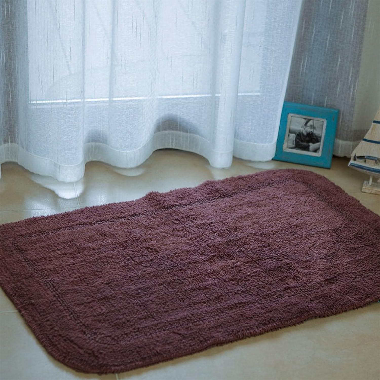 Cotton Mats Cotton Doormats Bathroom Mats Water Absorption And Anti-skidding Mat-B 90x60cm(35x24inch)