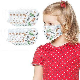 10pcs Face Bandanas 3 Ply Non-Woven Cute Patterns for Kids (100PCS)