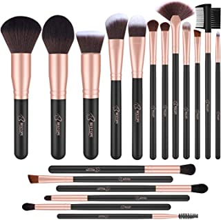 BESTOPE Makeup Brushes 18 PCs Makeup Brush Set Premium Synthetic Foundation Powder Kabuki Brushes Concealers Eye Shadows Make Up Brushes Kit