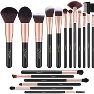 BESTOPE 18 Pcs Makeup Brushes Premium Synthetic Fan Foundation Powder Kabuki Brushes Concealers...