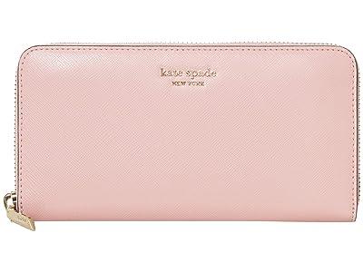 Kate Spade New York Spencer Zip Around Continental Wallet (Tutu Pink) Wallet