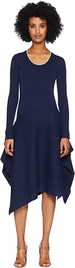 Gerba Long Sleeve Scoop Knit Dress
