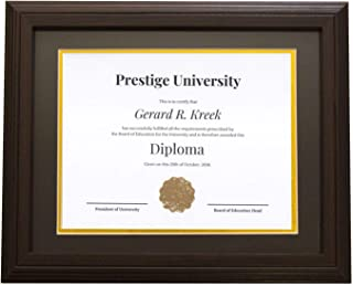 HTR Document Frames Dark Walnut Diploma Frame 11x14