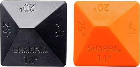 Sharpal 196N ANGLE PYRAMID brynsten kniv bladslipare sten vinkelguide 2-pack, 4 universella vinklar – 14°, 17°, 20°, 25°