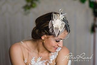 Millinery royal hat Headpieces Haarschmuck Brautfrisur Hut M83 Fascinator modern,mini had Bridal hair Brauthaarschmuck