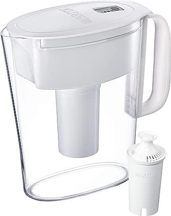 Brita 5 Cup Metro Water Pitcher with 1 Filter, BPA Free, White