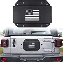 Danti Jeep Wrangler Tailgate Vent-Plate Cover for 2018 2019 Jeep Wrangler JL Spare tire Tramp Stamp tire Carrier Delete mild Steel Trim with US Flag