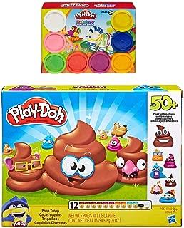 PD Play Doh Poop Troop Set + Play Doh Rainbow Starter Pack Bundle