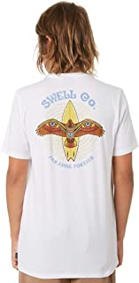 Swell Boys Boy's Swoop Tee Short Sleeve Cotton White