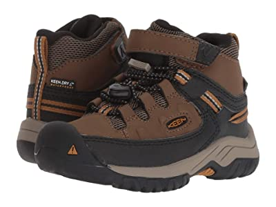 Keen Kids Targhee Mid WP (Toddler/Little Kid) (Dark Earth/Golden Brown) Boy