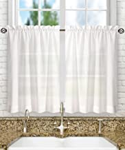 Best 30 inch white cafe curtains Reviews