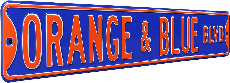 NCAA Orange Blue BLVD Florida Max 88% OFF Street Gators T Sign Fort Worth Mall Signstreet