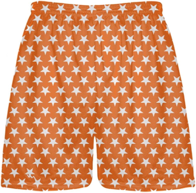 LightningWear orange White Stars ShortsSublimated Shorts