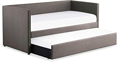 Homelegance 4969GY Dufort Tuxedo Daybed with Trundle, Twin, Gray