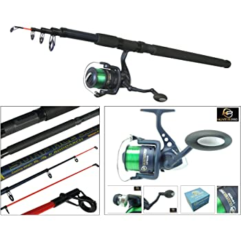 sourcingmap® Telescopic Portable Design 11 Sections Fishing Rod Pole 5 Meters Long w Case