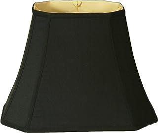 Royal Designs - Pantalla para lámpara de esquina, diseño rectangular, negro, (7 x 10) x (12.25 x 18) x 13.25