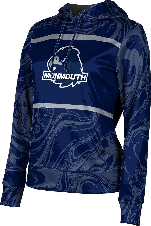 ProSphere Monmouth University Girls' Pullover Hoodie, School Spirit Sweatshirt (Ripple)
