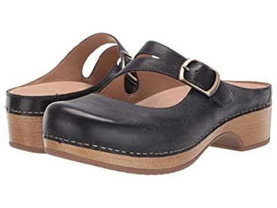 Dansko Britney (Navy Waxy Burnished) Women