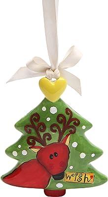 Cosmos Gifts 62438 Ceramic Reindeer Figurine, 4-1/4-Inch