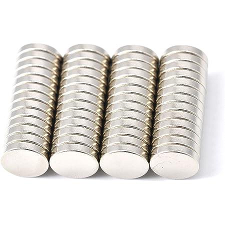 52 pièce Aimant de néodyme 10 mm de diamètre x 2 mm d'épaisseur avec 2 kg Traction (lot de 52) Magenesis