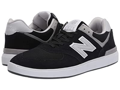 New Balance Numeric AM574 (Black/Grey) Skate Shoes
