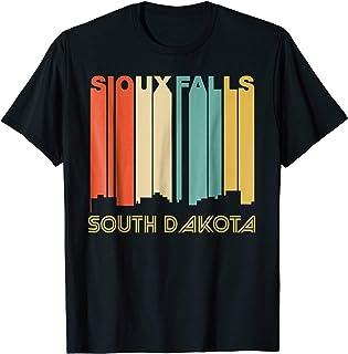 Retro 1970`s Style Sioux Falls South Dakota Skyline T-Shirt