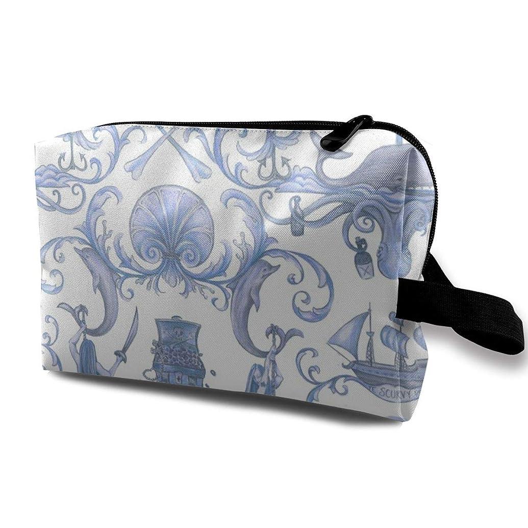 リットルしつけ準備した化粧ポーチ コンパクトサイズ,White_3814のチョッパーのスカイブルー、オックスフォードの布の多彩な袋の小型旅行
